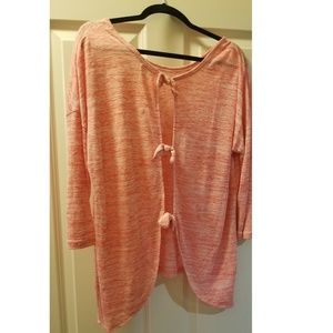 Bow Back Coral top